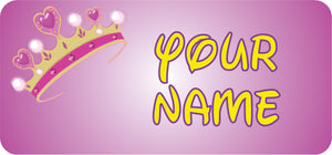 Princess Crown Name Tags