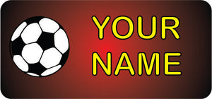 Red Football Name Tags