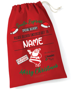 Santa / Gift Sack (Red Santa Express Design)