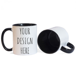 Personalised Black Rim Mug (Your Design)