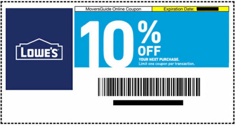 One Lowes 10% Off Digital Coupon- Expires 04/30/21