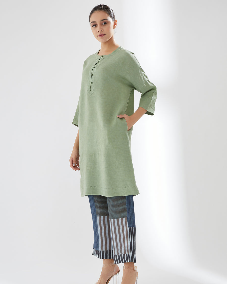 Pistachio 6th Intertwined SS20 Tunic With Pants