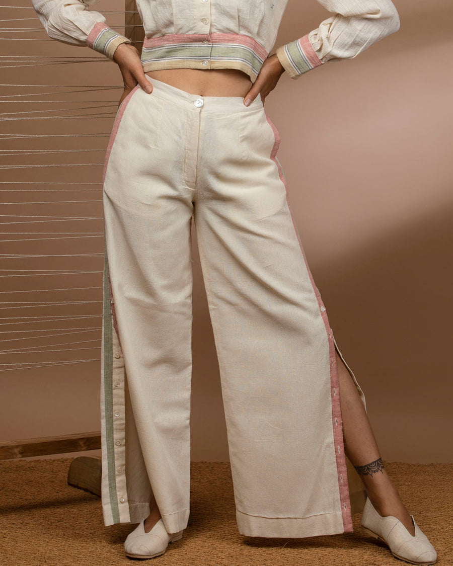 Kala Cotton Pants with High Slits