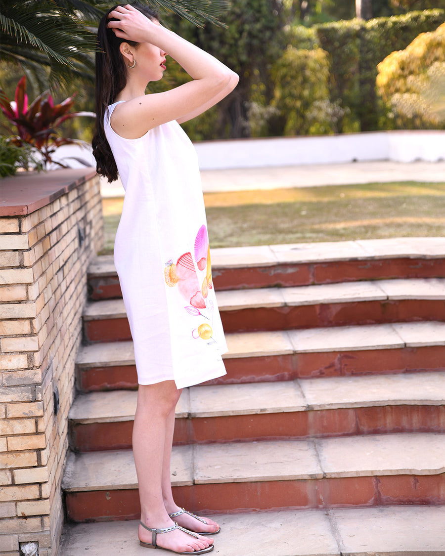 Ivory Hand Painted Dress