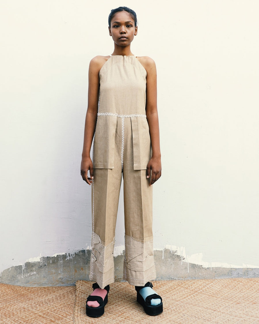 Paper Bag Overall Jumpsuit