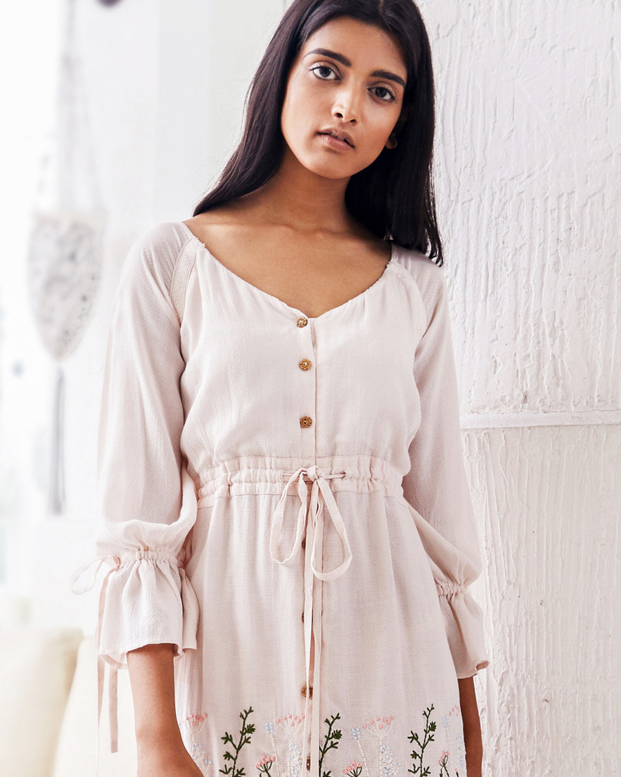 Light Pink Button Down Dress