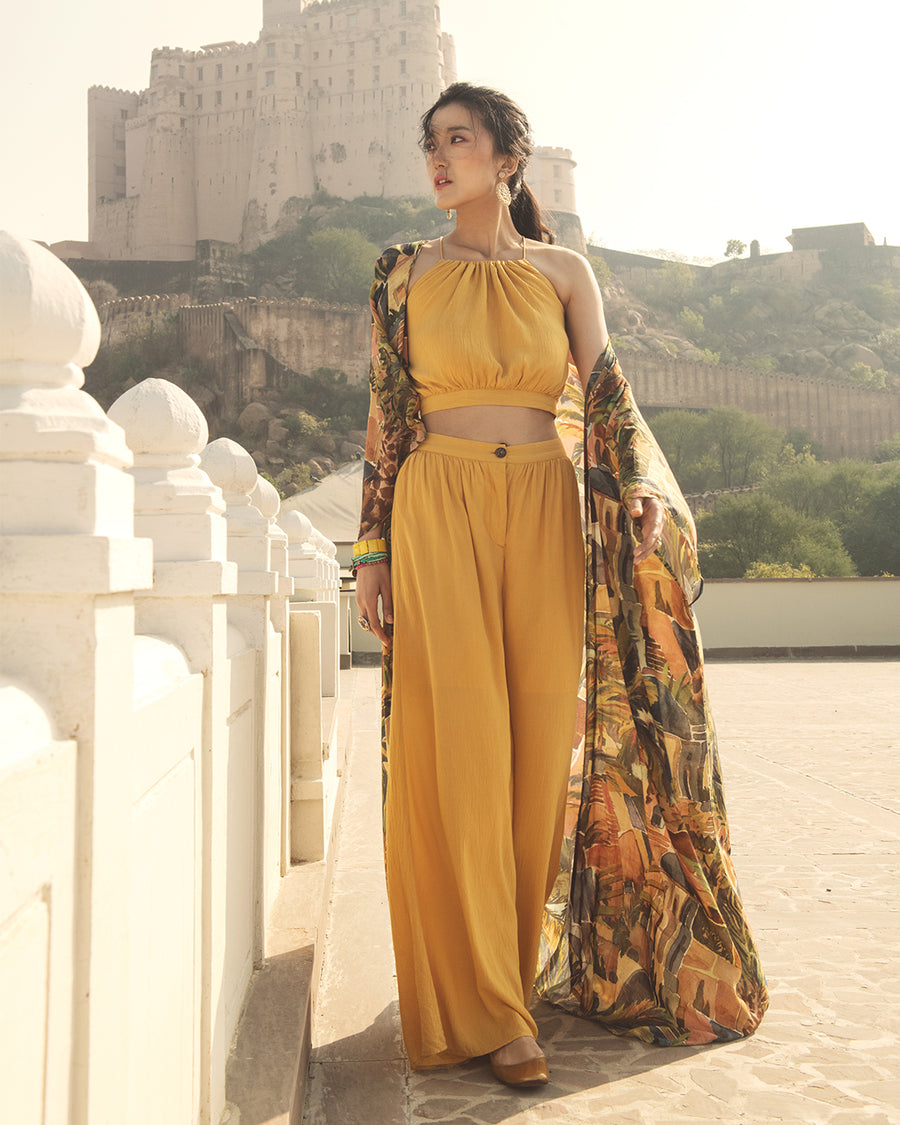 Organic Modal A-line Full Length Printed Cape