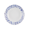Blue and white Ikat design dinner plate