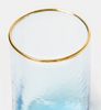 Sky blue tall hand blown tumbler glass