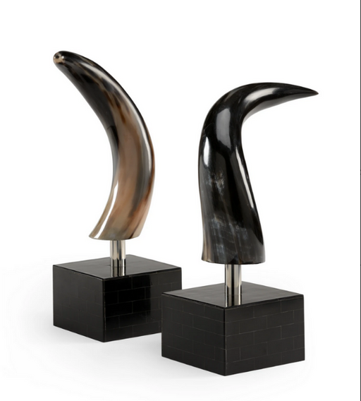 Buffalo Horn bookends Unique Decorative