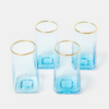 Sky blue tall drinking glassware set
