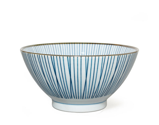 Japanese Ceramic Bowl MIYA Blue and White