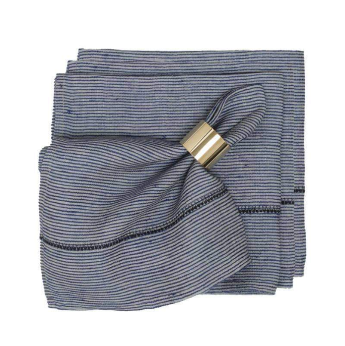 100% Linen in Chambray napkin set