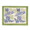 Wisteria Green & Blue Placemat Hand Made France Design Green and Blue