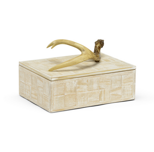 Antler Decorative Wood  Box Jewely Box