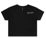 Original - Logo - Black Crop T-Shirt - Womens