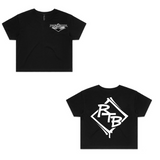 Rock The Block - Cypher - Black Crop T-Shirt - Womens