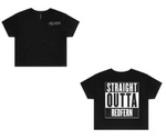 NWA - Straight Outta Compton - Redfern - Black Crop T-Shirt - Womens