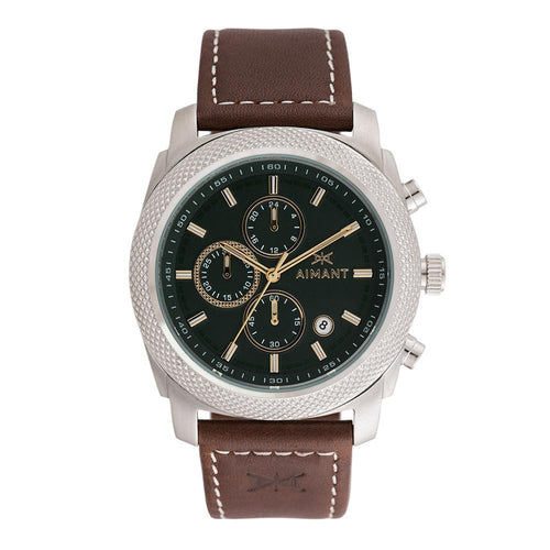 jackson silver brown men's watch