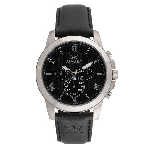 kent black silver watch for men