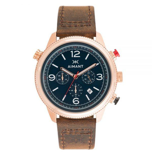 kotor rose gold brown navy watch for men