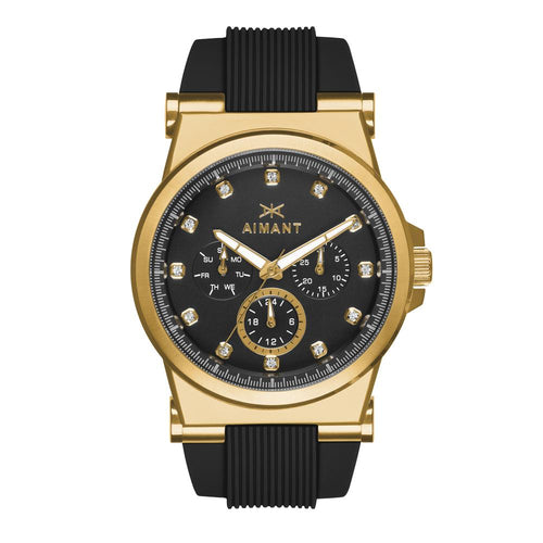 ibiza gold black women's watch