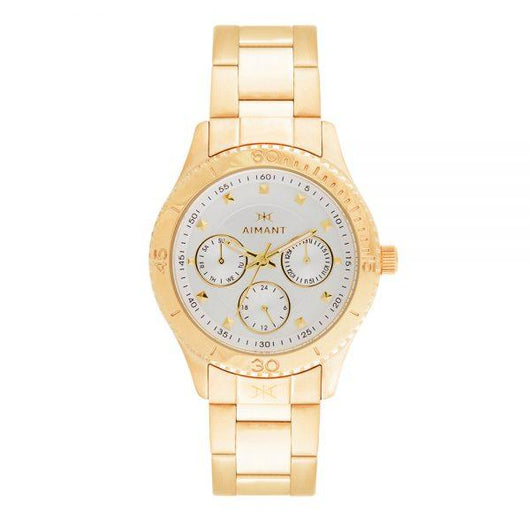 dakota gold stainless steel women's watch