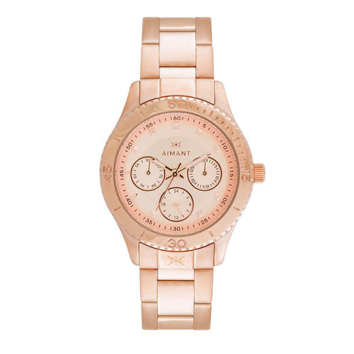 dakota rose gold stainless steel women's watch