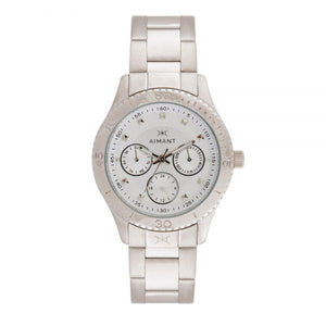 dakota silver stainless steel watch for women