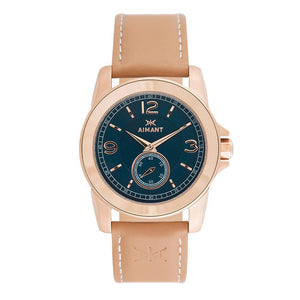 madison rose gold nude watch for women