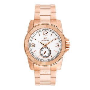 women's madison rose gold white watch