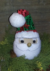 Handmade Santa Head Shelf Sitter
