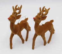 Load image into Gallery viewer, Flocked Deer Ornaments