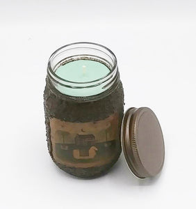 Grungy Mason Jar Candle Coconut Lime Verbina16 oz
