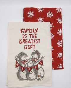 Christmas Towel Set Family is the Greatest Gift
