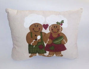Handmade Gingerbread Christmas Pillow