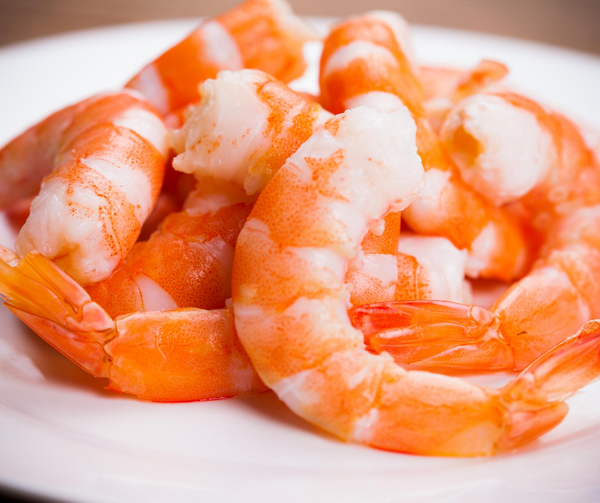 Shrimp 21/25 Tiger Cooked Peeled/Deveined-Tail On I.Q.F. 2 lb Bag - Fresh Fish Fast