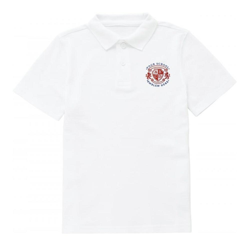 St Christophers RC School Polo Shirt - White