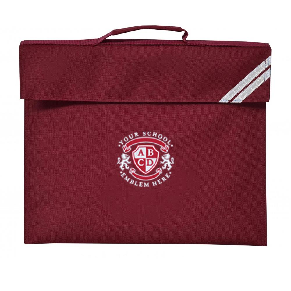 St Cuthberts Nursery Book Bag - Maroon
