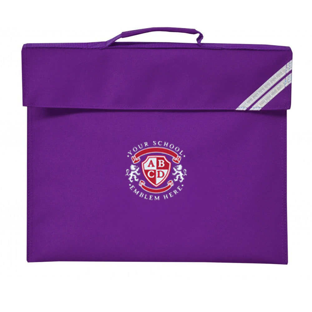 Shocklach Oviatt CE Primary School Book Bag - Purple