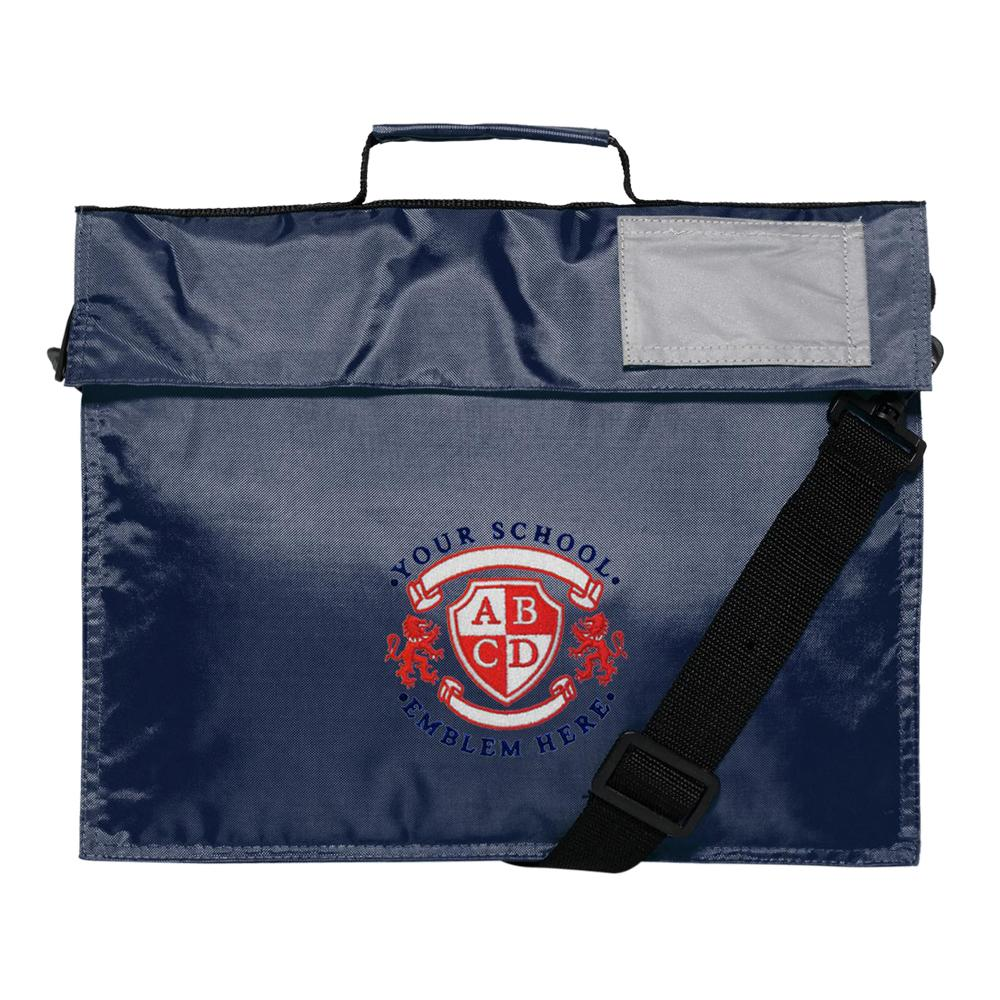 St Hilds Primary School Book Bag with shoulder stap - Navy
