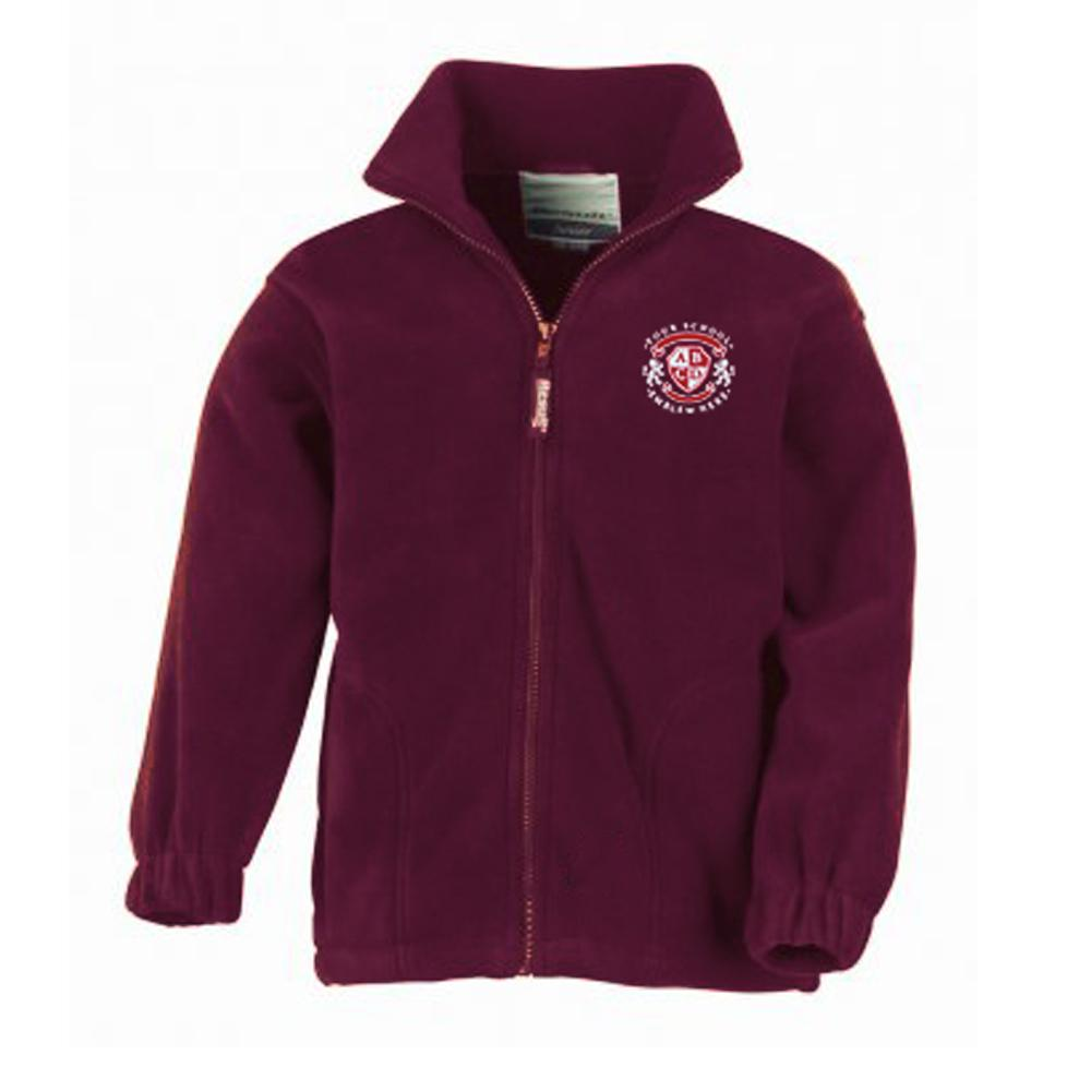 Stornoway Primary School Fleece - Dark Maroon