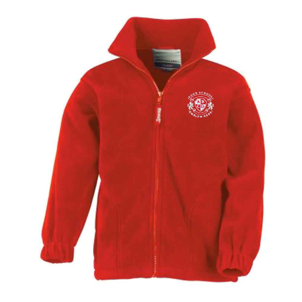 St Bride's Primary School Fleece - Red