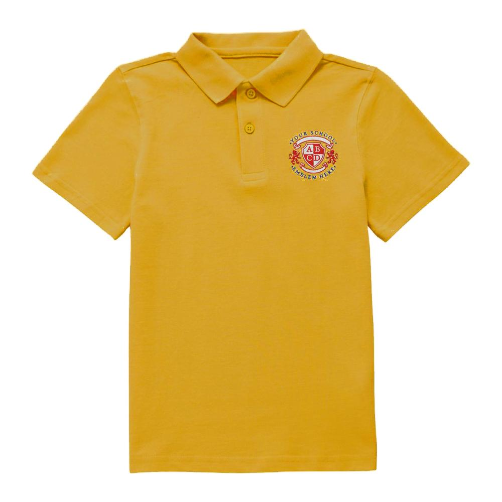 Dunning Primary School Polo Shirt - Gold