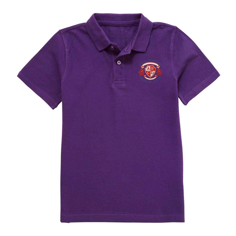 Stone with Woodford Primary School Polo Shirt - Purple