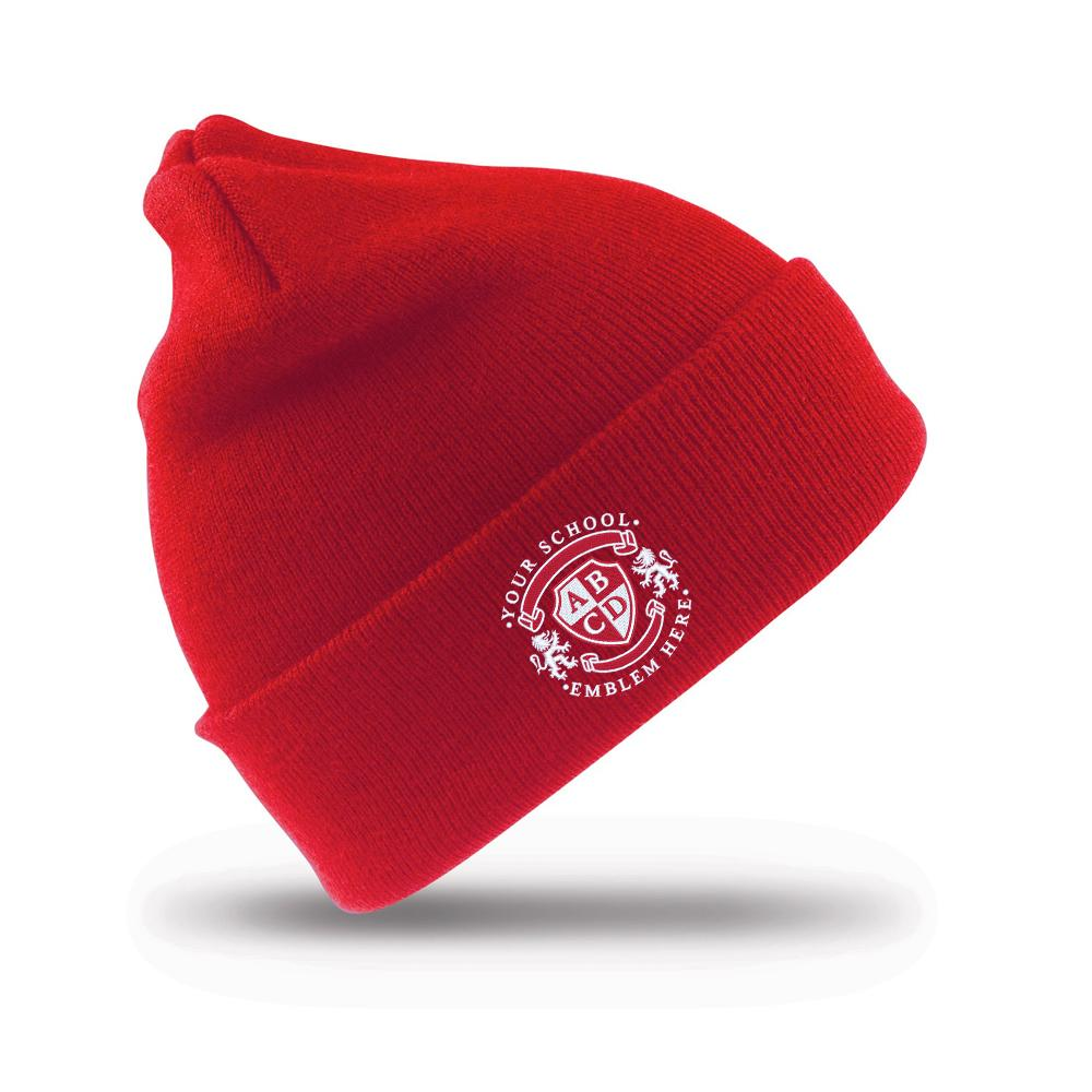 Moortown Primary School Ski Hat - Red