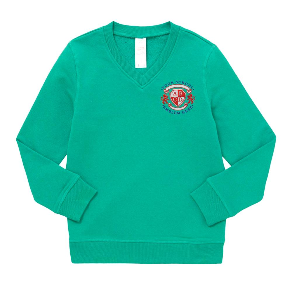 Cottam Primary School V-Neck Sweatshirt - Jade