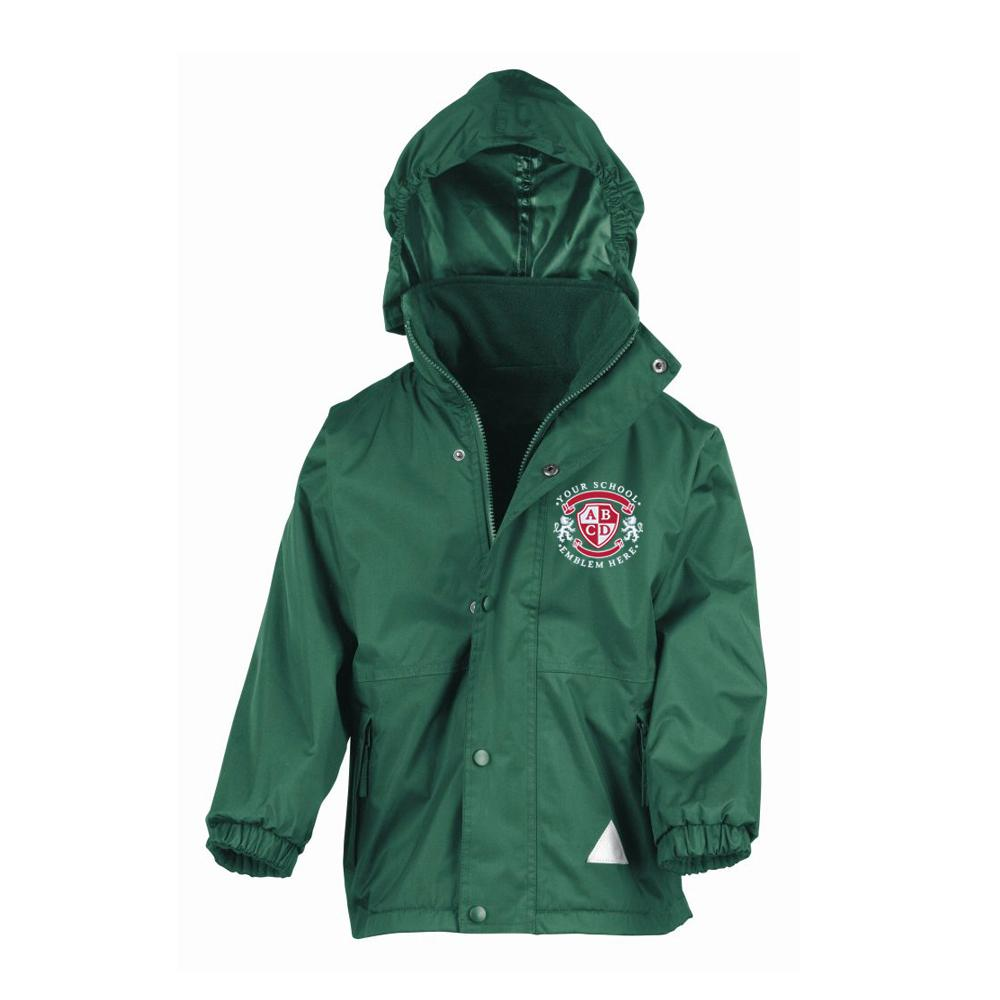 St Columba's Primary School Waterproof Jacket - Bottle Green