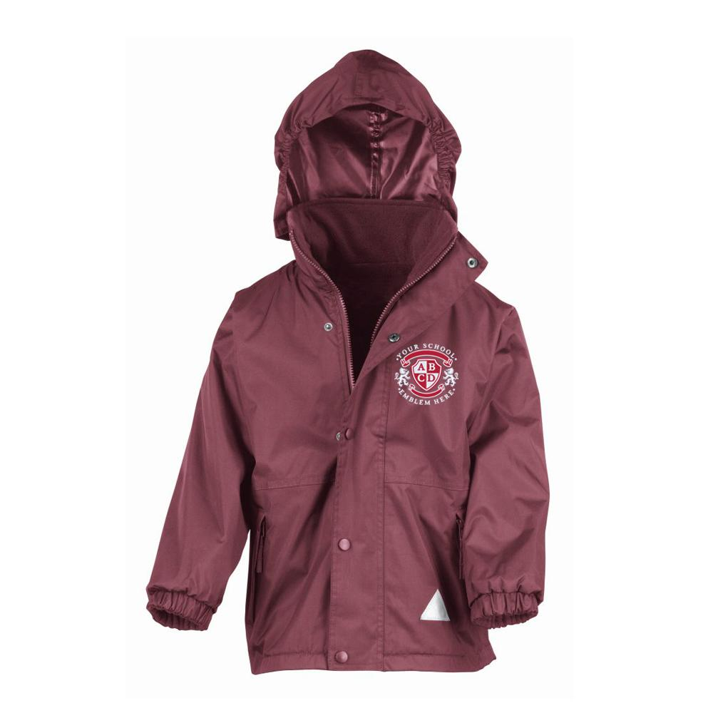 St Cuthberts Primary School Waterproof Jacket - Maroon