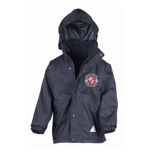 St Hilds Primary School Waterproof Jacket - Navy